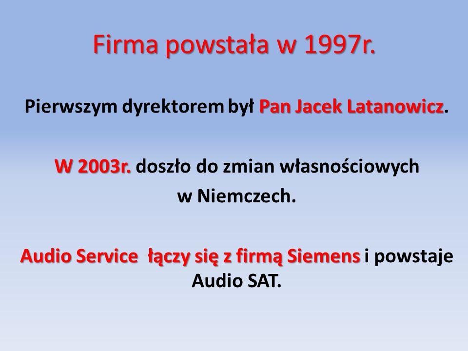 Firma powstała w 1997r.