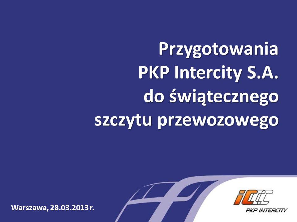 Przygotowania PKP Intercity S.A. do świątecznego szczytu przewozowego