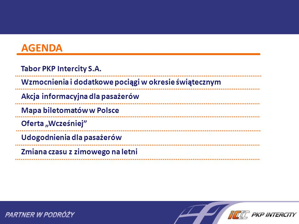 AGENDA Tabor PKP Intercity S.A.