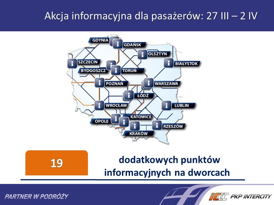 Akcja informacyjna dla pasażerów: 27 III – 2 IV