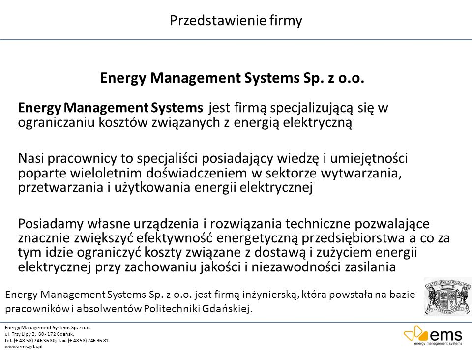 Energy Management Systems Sp. z o.o.