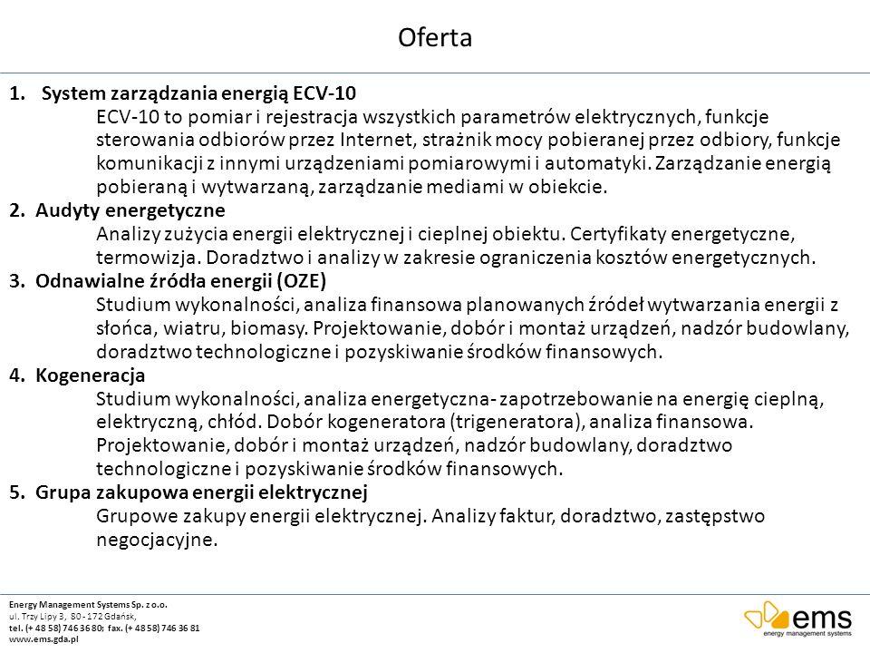 Oferta System zarządzania energią ECV-10
