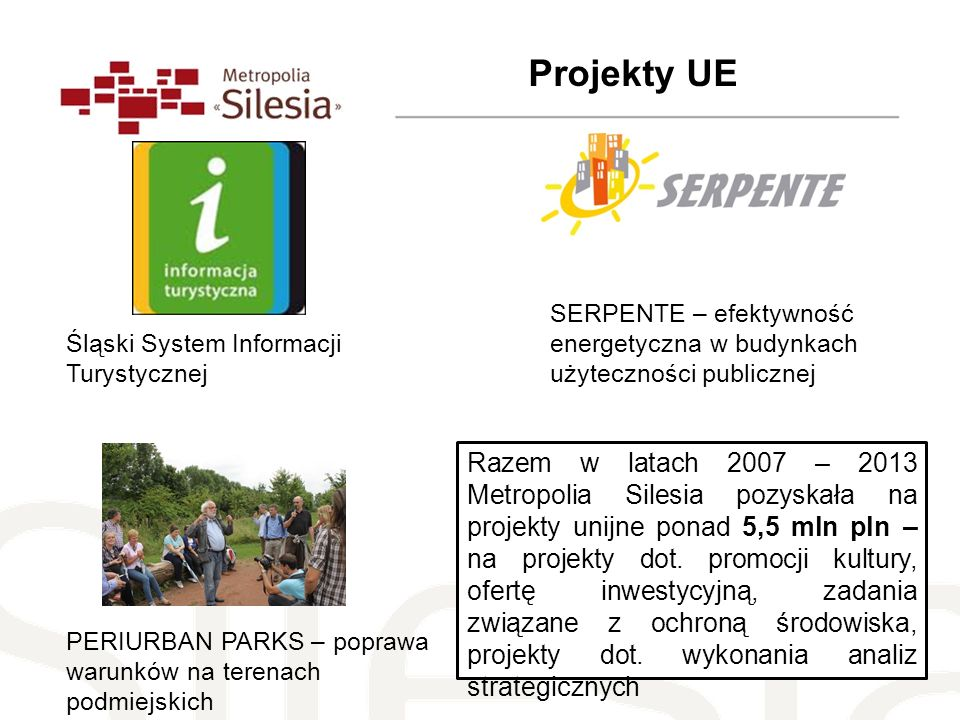Projekty UESERPENTE – efektywność energetyczna w budynkach użyteczności publicznej. Śląski System Informacji Turystycznej.
