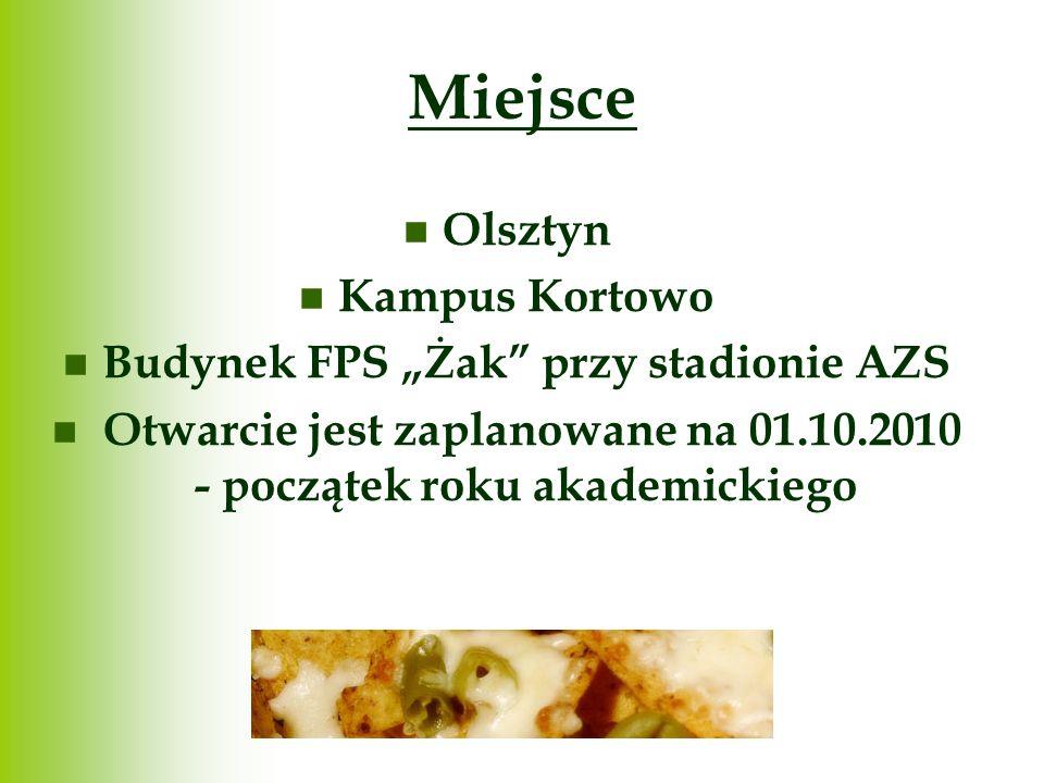 """Miejsce Olsztyn Kampus Kortowo Budynek FPS """"Żak przy stadionie AZS"""