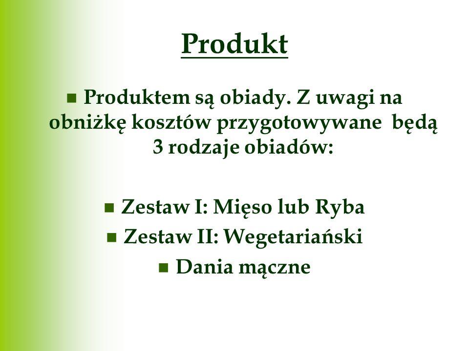 Zestaw I: Mięso lub Ryba Zestaw II: Wegetariański