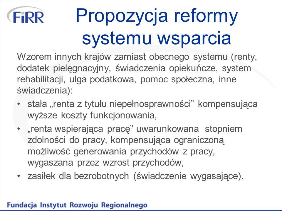 Propozycja reformy systemu wsparcia