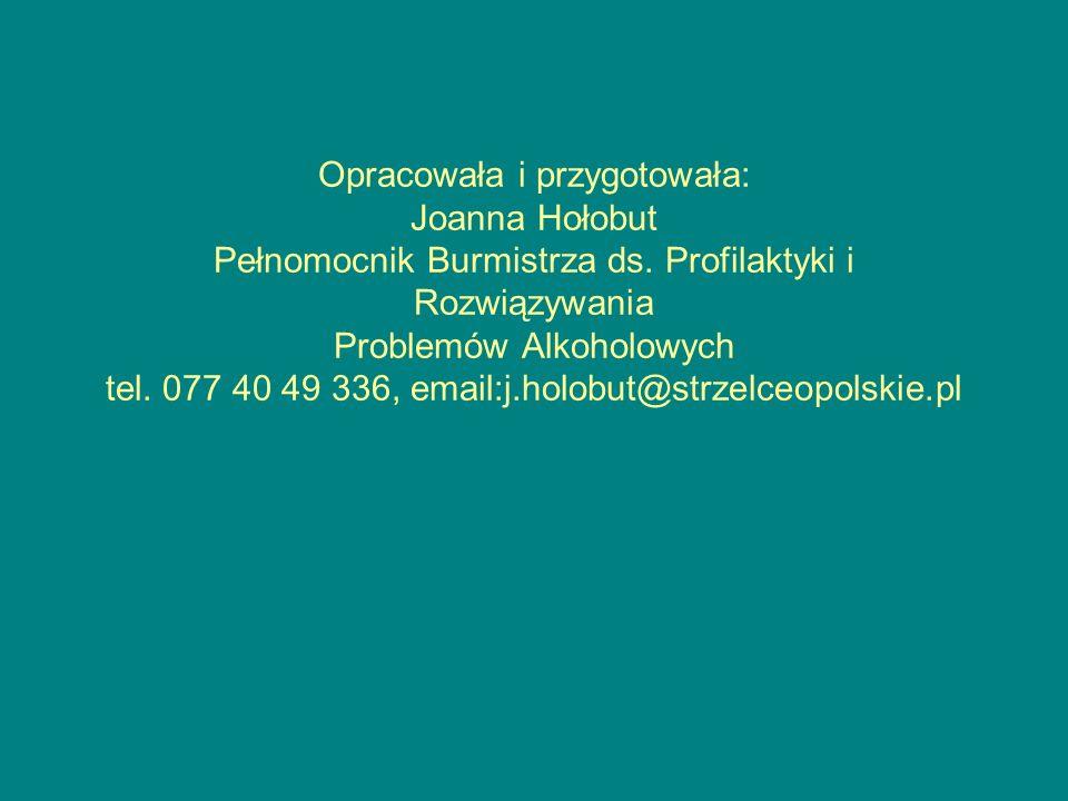 Opracowała i przygotowała: Joanna Hołobut Pełnomocnik Burmistrza ds