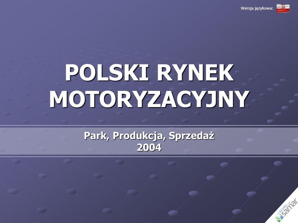 POLSKI RYNEK MOTORYZACYJNY Park, Produkcja, Sprzedaż 2004