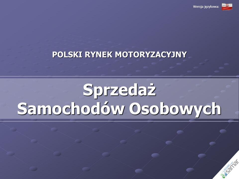 POLSKI RYNEK MOTORYZACYJNY Sprzedaż Samochodów Osobowych