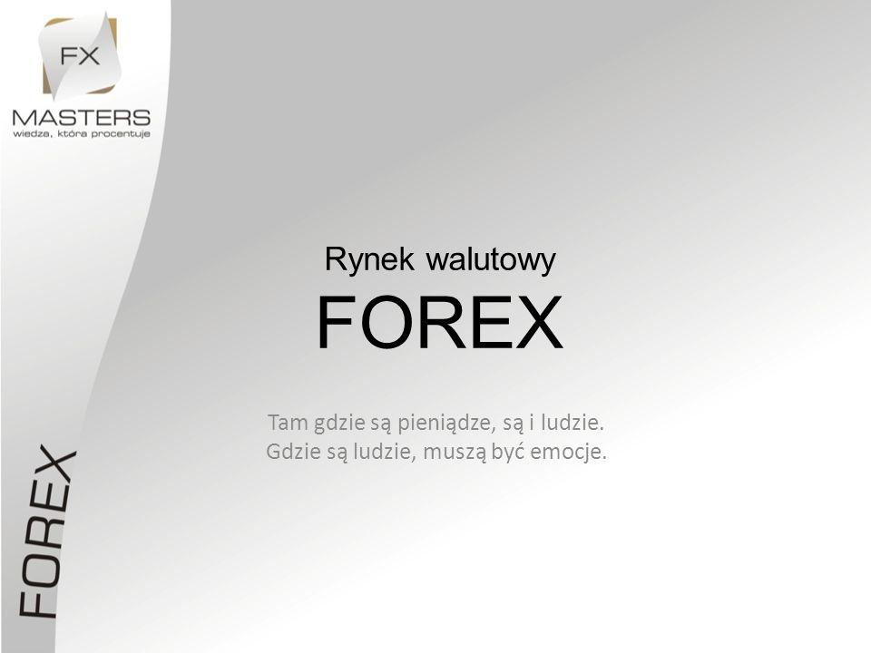 Rynek walutowy FOREX Tam gdzie są pieniądze, są i ludzie.