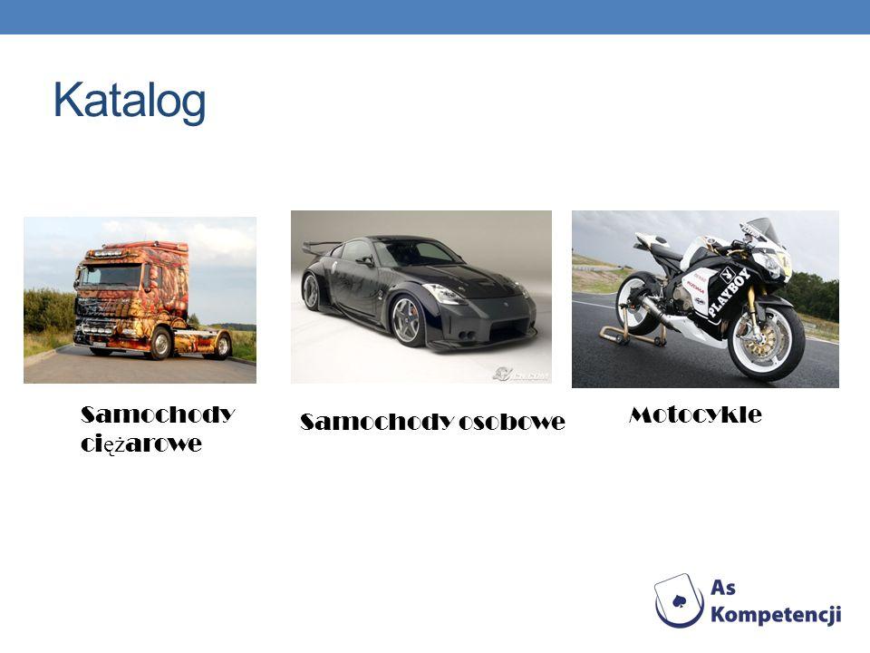 Katalog Samochody ciężarowe Motocykle Samochody osobowe