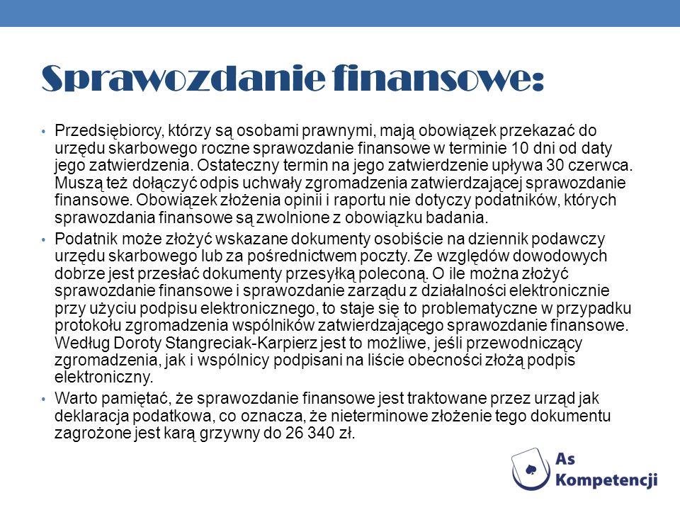 Sprawozdanie finansowe: