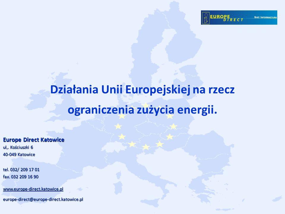 Działania Unii Europejskiej na rzecz ograniczenia zużycia energii.