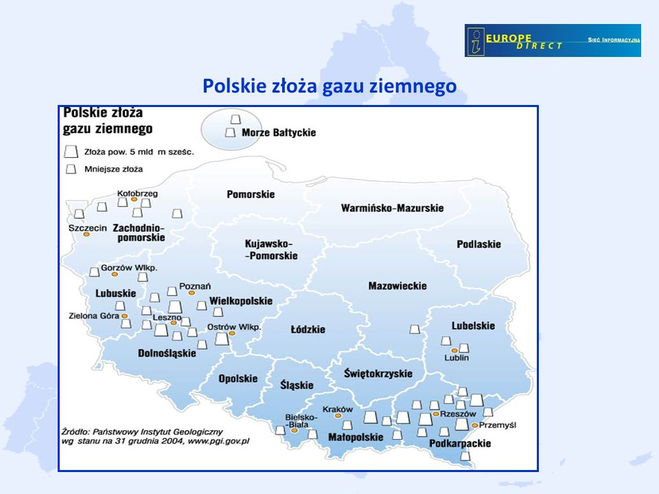 Polskie złoża gazu ziemnego