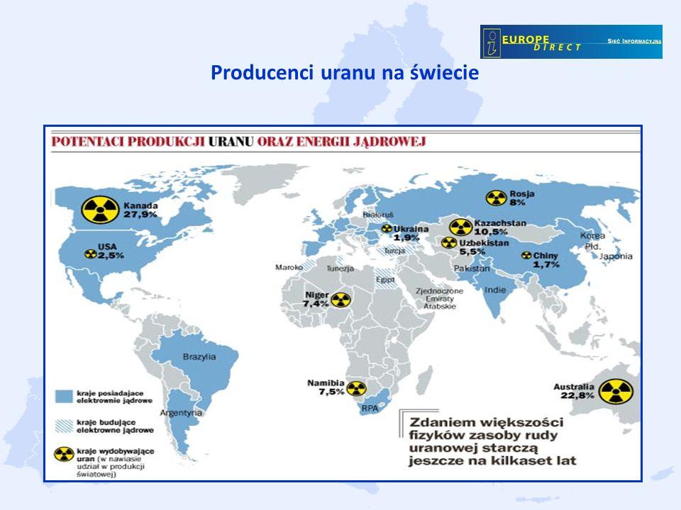 Producenci uranu na świecie