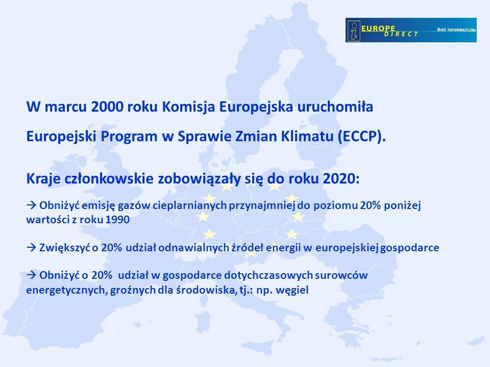 Kraje członkowskie zobowiązały się do roku 2020: