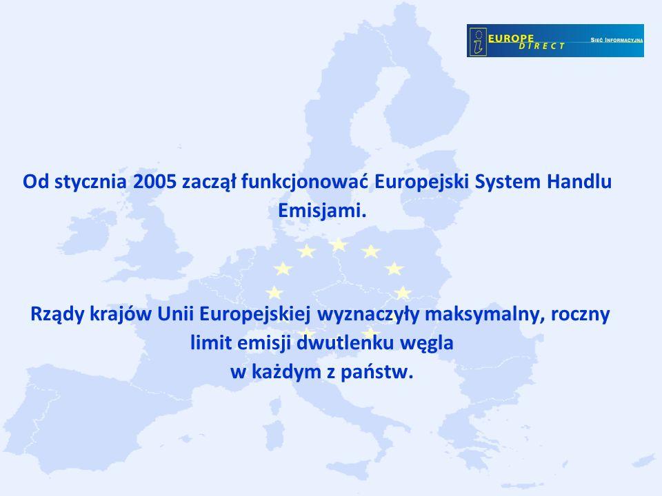 Od stycznia 2005 zaczął funkcjonować Europejski System Handlu Emisjami