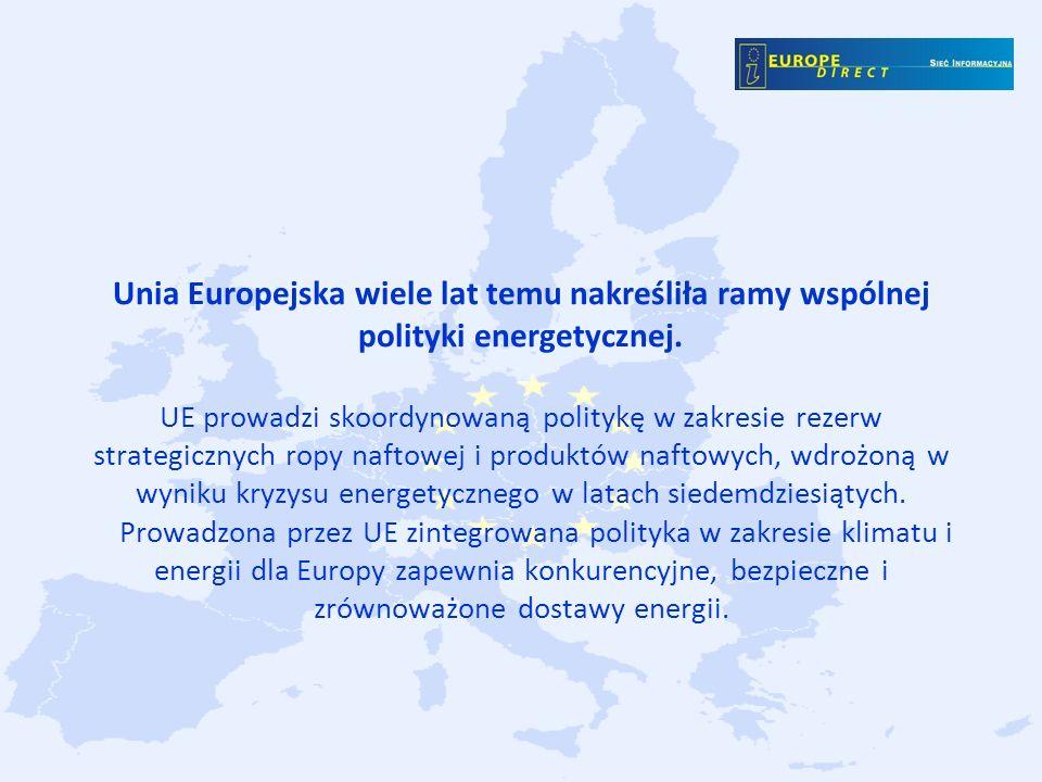 Unia Europejska wiele lat temu nakreśliła ramy wspólnej polityki energetycznej.