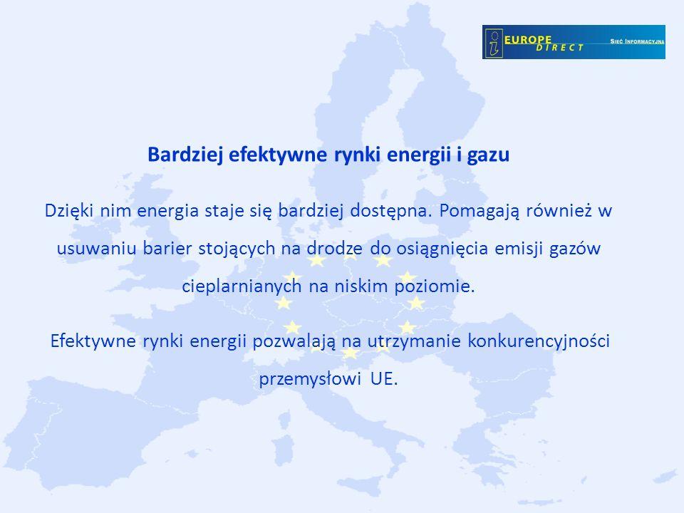 Bardziej efektywne rynki energii i gazu