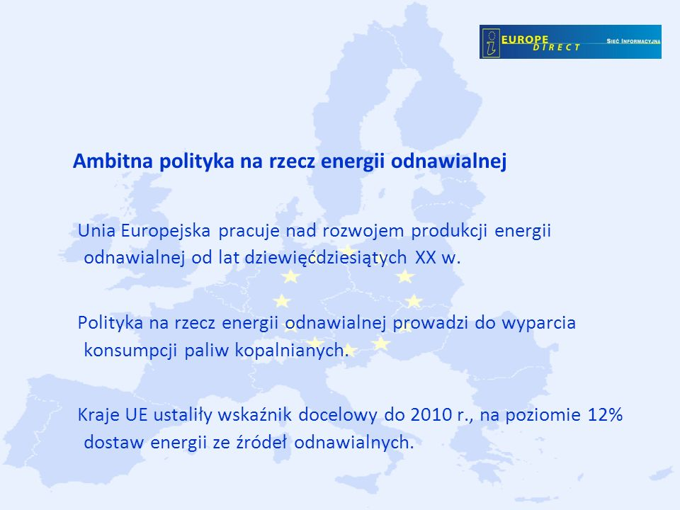 Ambitna polityka na rzecz energii odnawialnej