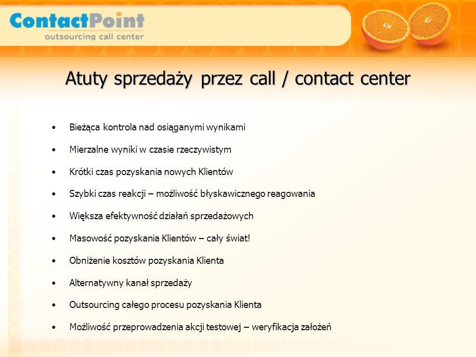 Atuty sprzedaży przez call / contact center