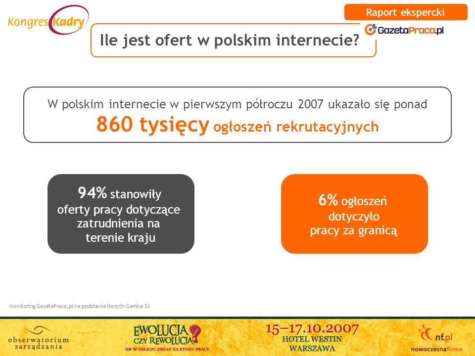 Ile jest ofert w polskim internecie
