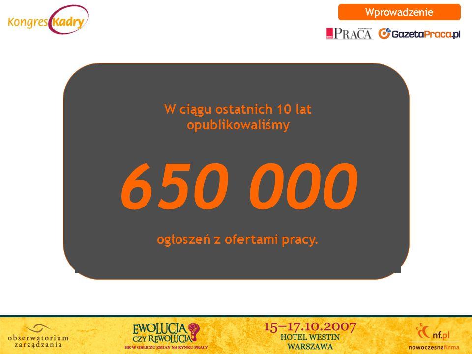 W ciągu ostatnich 10 lat opublikowaliśmy 650 000