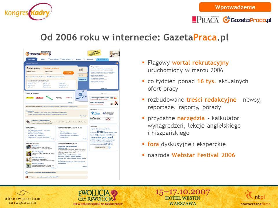 Od 2006 roku w internecie: GazetaPraca.pl