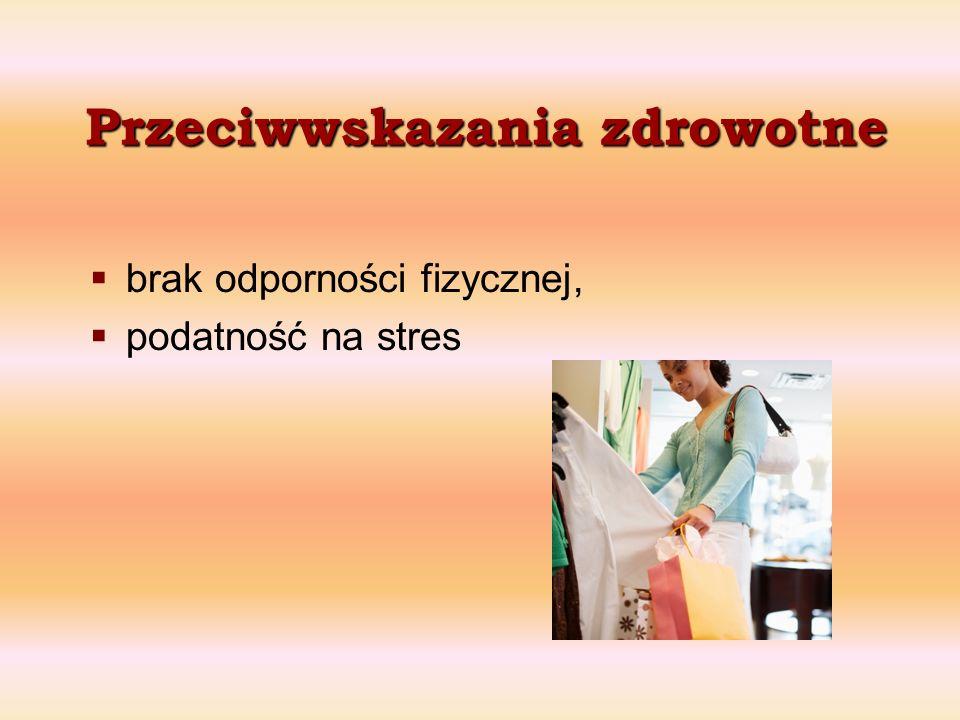 Przeciwwskazania zdrowotne