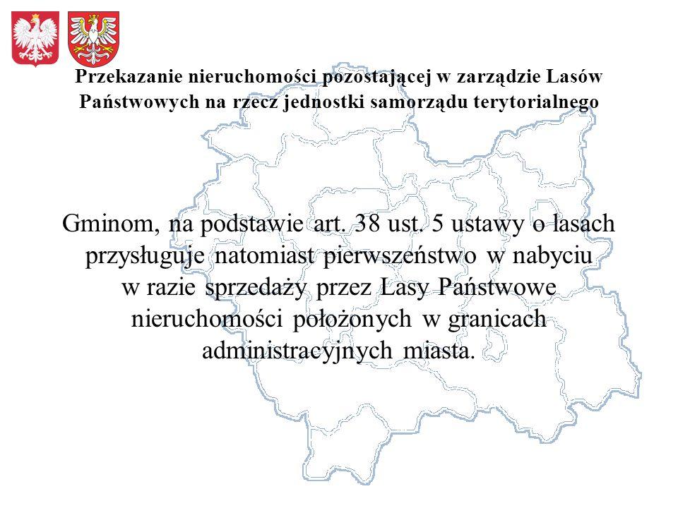 Przekazanie nieruchomości pozostającej w zarządzie Lasów Państwowych na rzecz jednostki samorządu terytorialnego