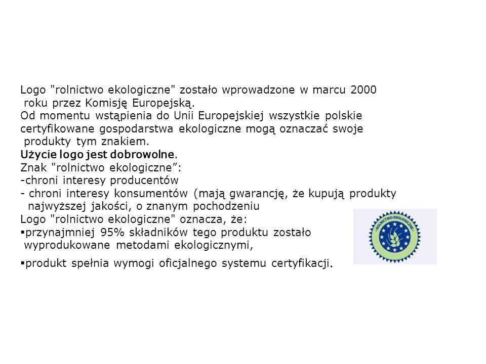 Logo rolnictwo ekologiczne zostało wprowadzone w marcu 2000