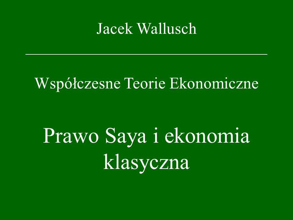 Prawo Saya i ekonomia klasyczna