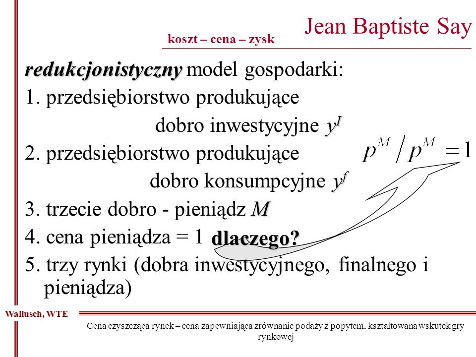 Jean Baptiste Say ______________________________________________________________________________