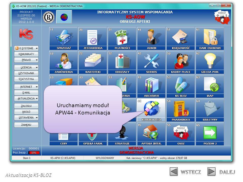Uruchamiamy moduł APW44 - Komunikacja