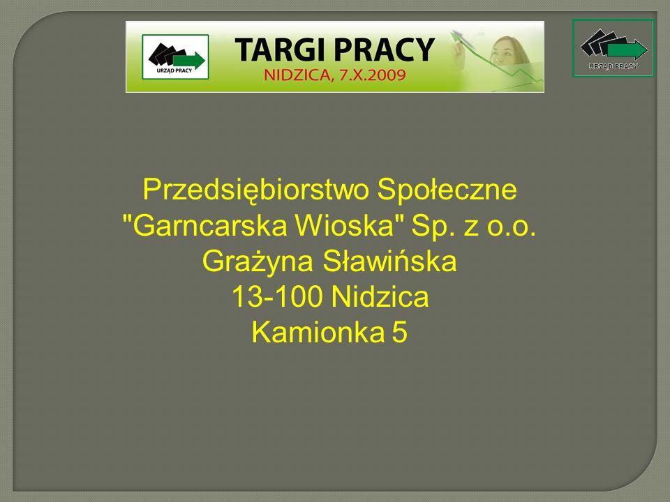 Przedsiębiorstwo Społeczne Garncarska Wioska Sp. z o.o.