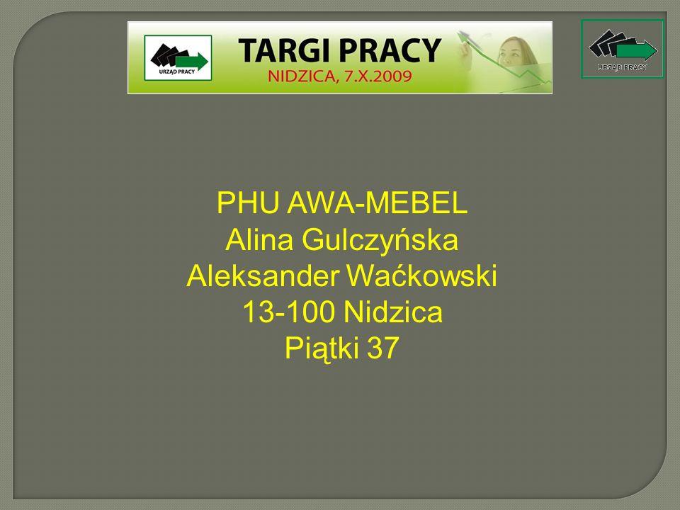 Aleksander Waćkowski 13-100 Nidzica Piątki 37