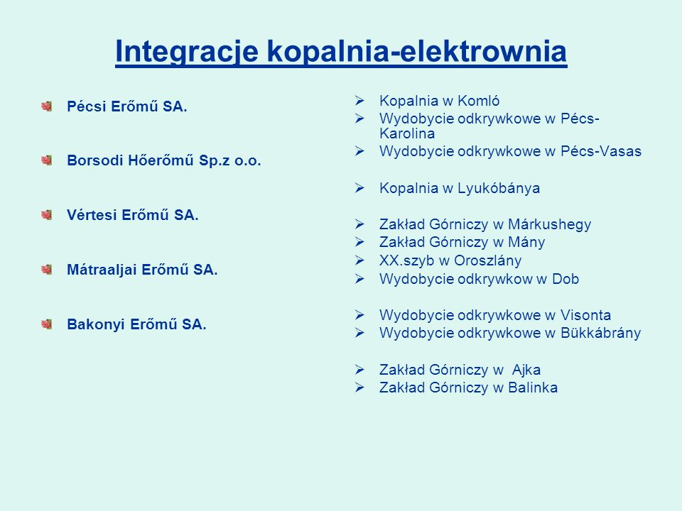 Integracje kopalnia-elektrownia