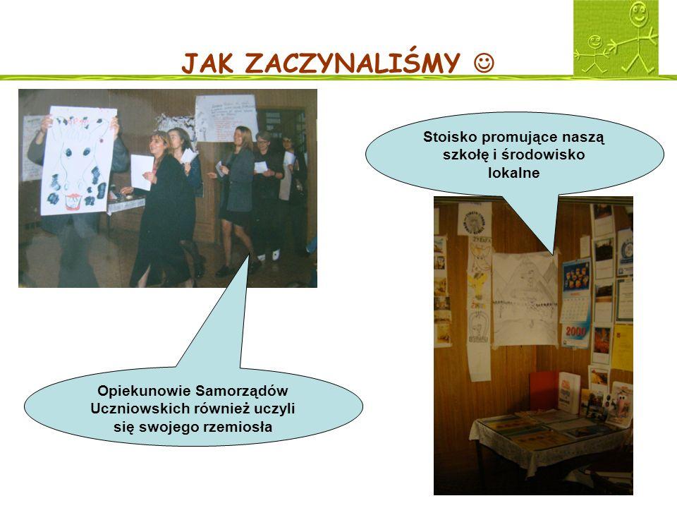 Stoisko promujące naszą szkołę i środowisko lokalne