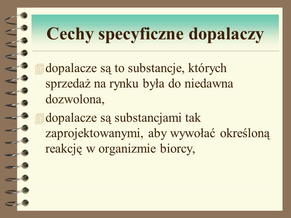 Cechy specyficzne dopalaczy