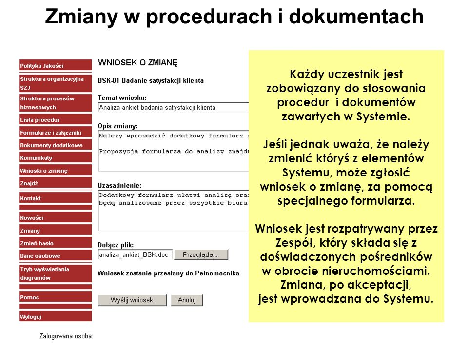 Zmiany w procedurach i dokumentach