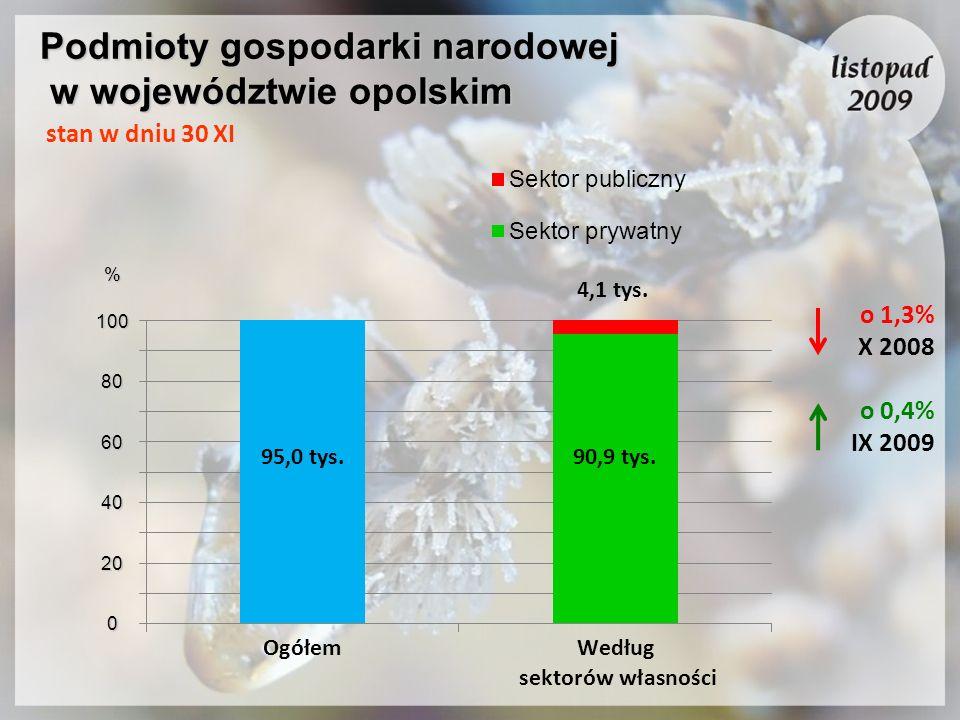 Podmioty gospodarki narodowej w województwie opolskim