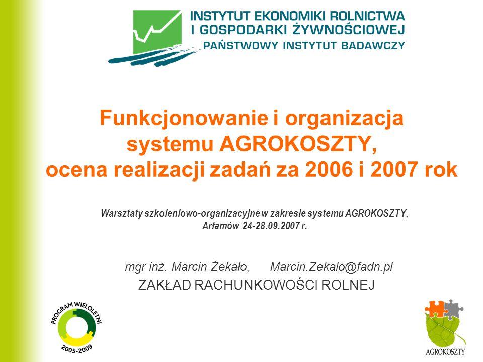 Warsztaty szkoleniowo-organizacyjne w zakresie systemu AGROKOSZTY,