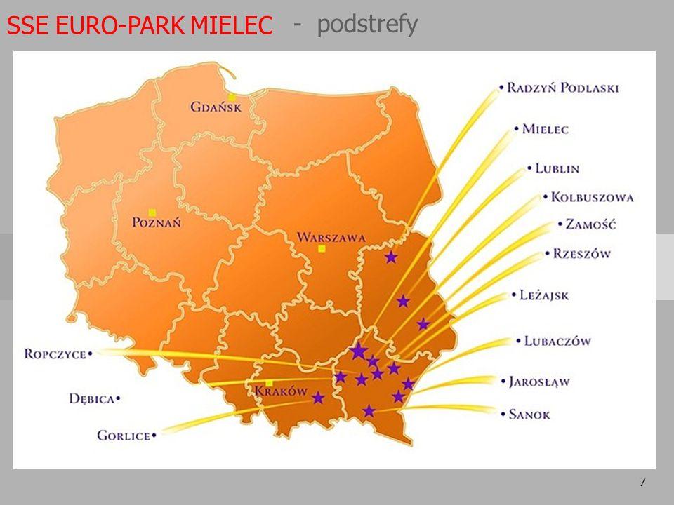 SSE EURO-PARK MIELEC - podstrefy