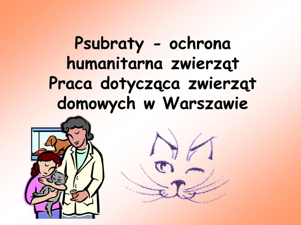 Psubraty - ochrona humanitarna zwierząt Praca dotycząca zwierząt domowych w Warszawie
