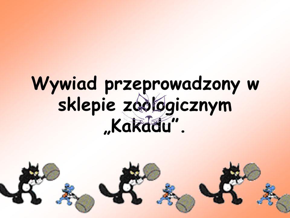 """Wywiad przeprowadzony w sklepie zoologicznym """"Kakadu ."""