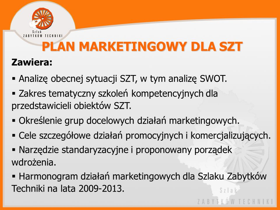 PLAN MARKETINGOWY DLA SZT