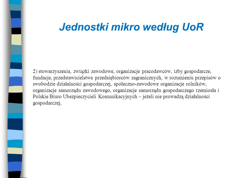 Jednostki mikro według UoR