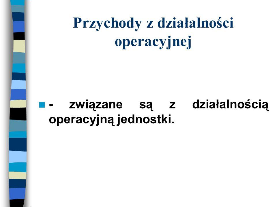 Przychody z działalności operacyjnej