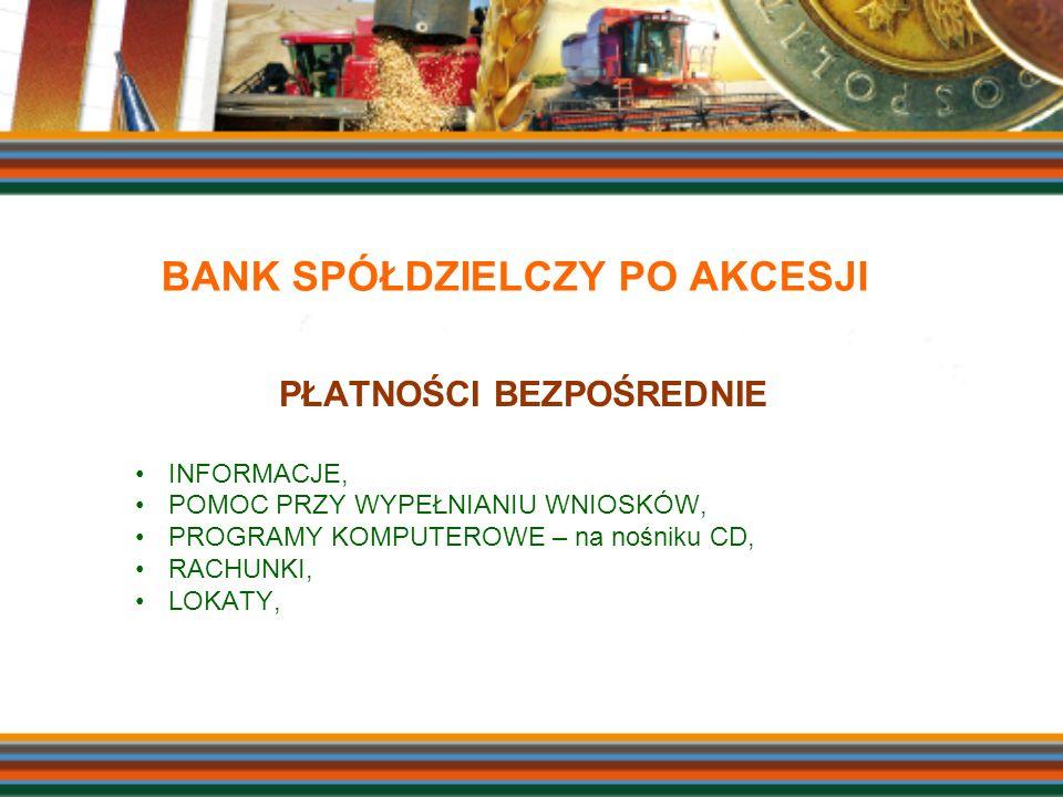BANK SPÓŁDZIELCZY PO AKCESJI