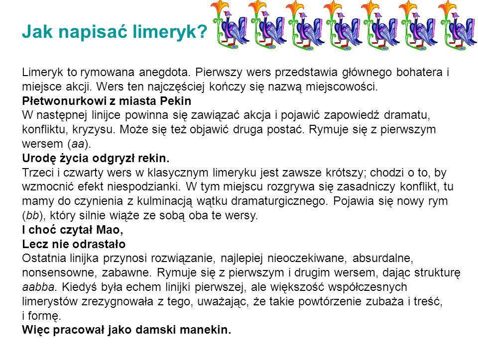 Jak napisać limeryk
